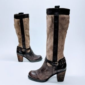 Naturalizer Suede & Leather Glassy Boots sz 8